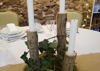 Wooden candleabra