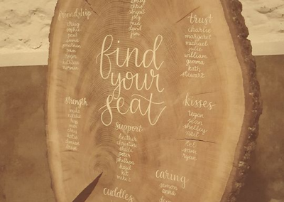 Table plan wood slice